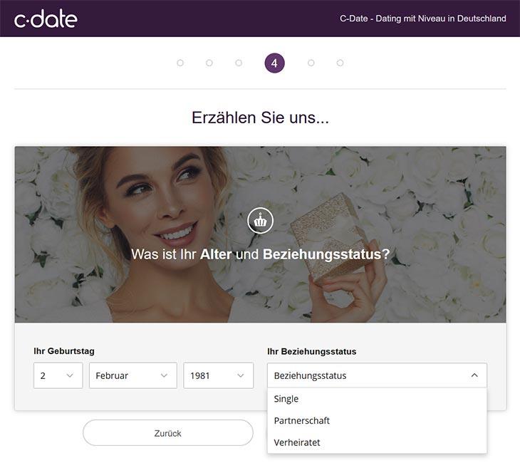 C-Date Registrierung