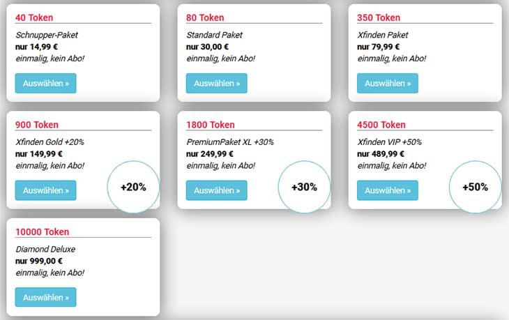 xfinden.com Kosten